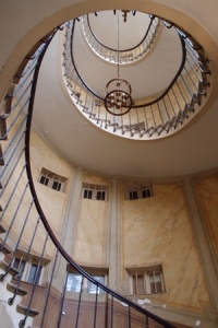 Curved stairwell