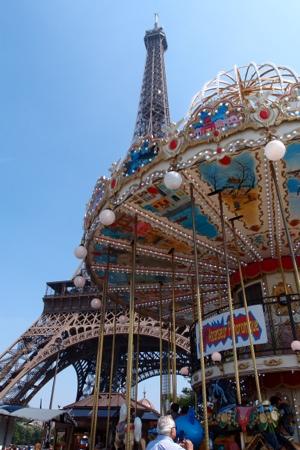 Eiffel Tower & merry-go-round