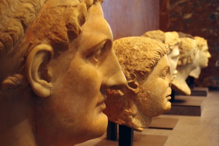 Greek marble heads at the Louvre