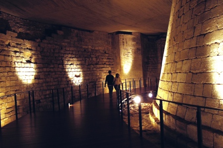 Medieval moat under the Louvre