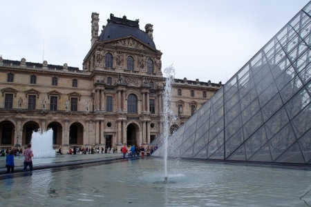 Entrance at the Louvre
