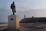 Miranda statue on the Malecon Havana