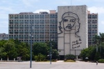 Che on building in Plaza de la Revolution
