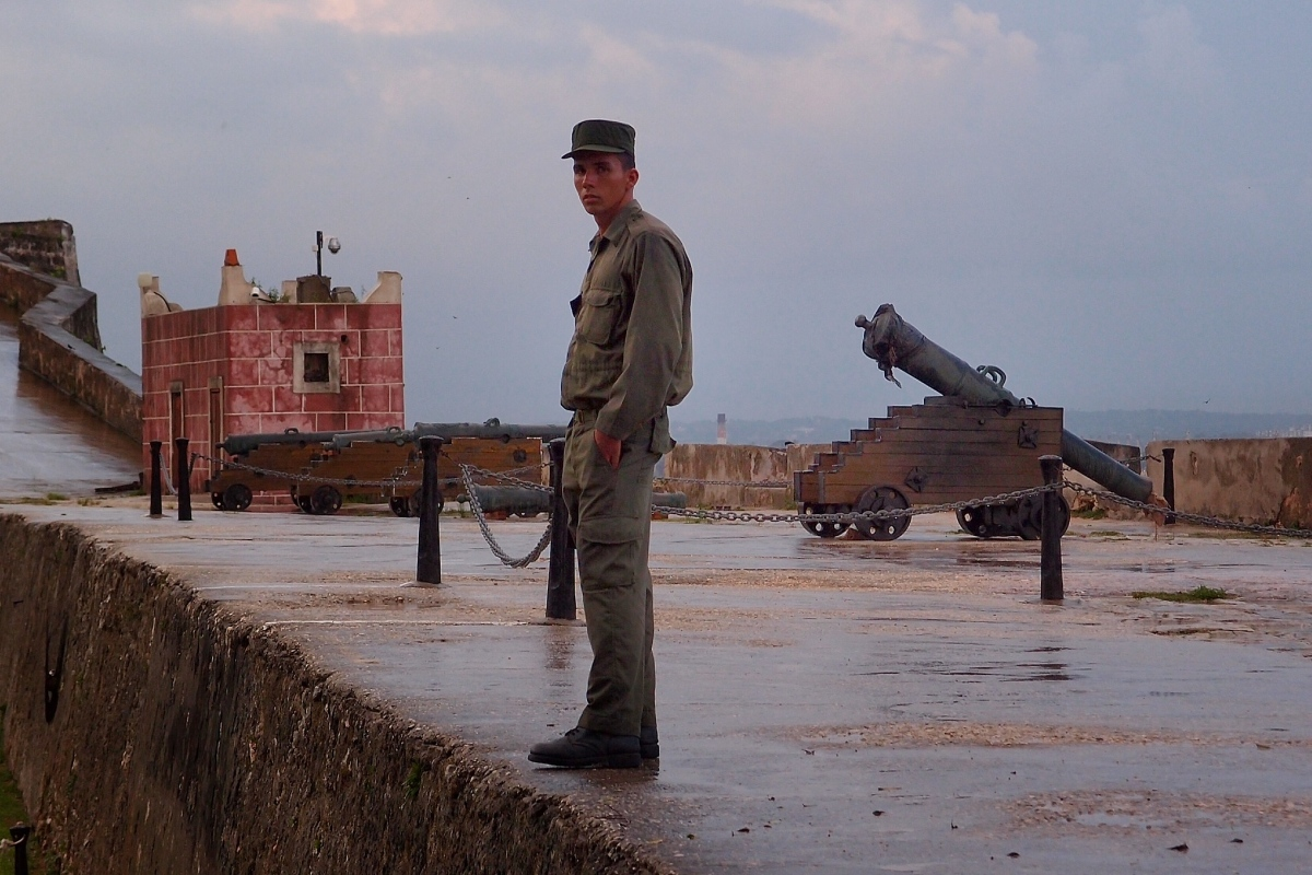 One of the guards at the Forteleza de San Carlos de la Cabana, Havana