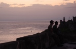 Silhouette guards at the Forteleza de San Carlos de la Cabana, Havana