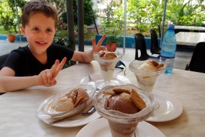 Matthew enjoying Coppelia ice cream Havana