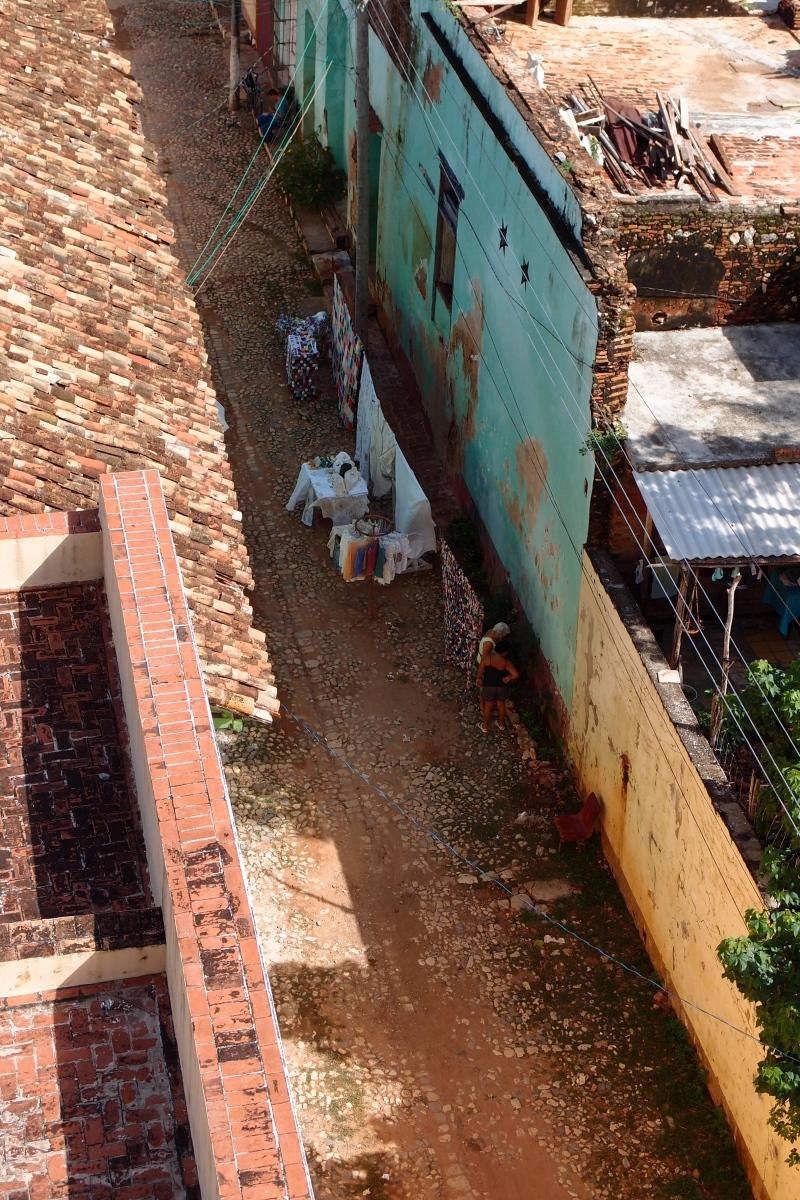 Trinidad street from above