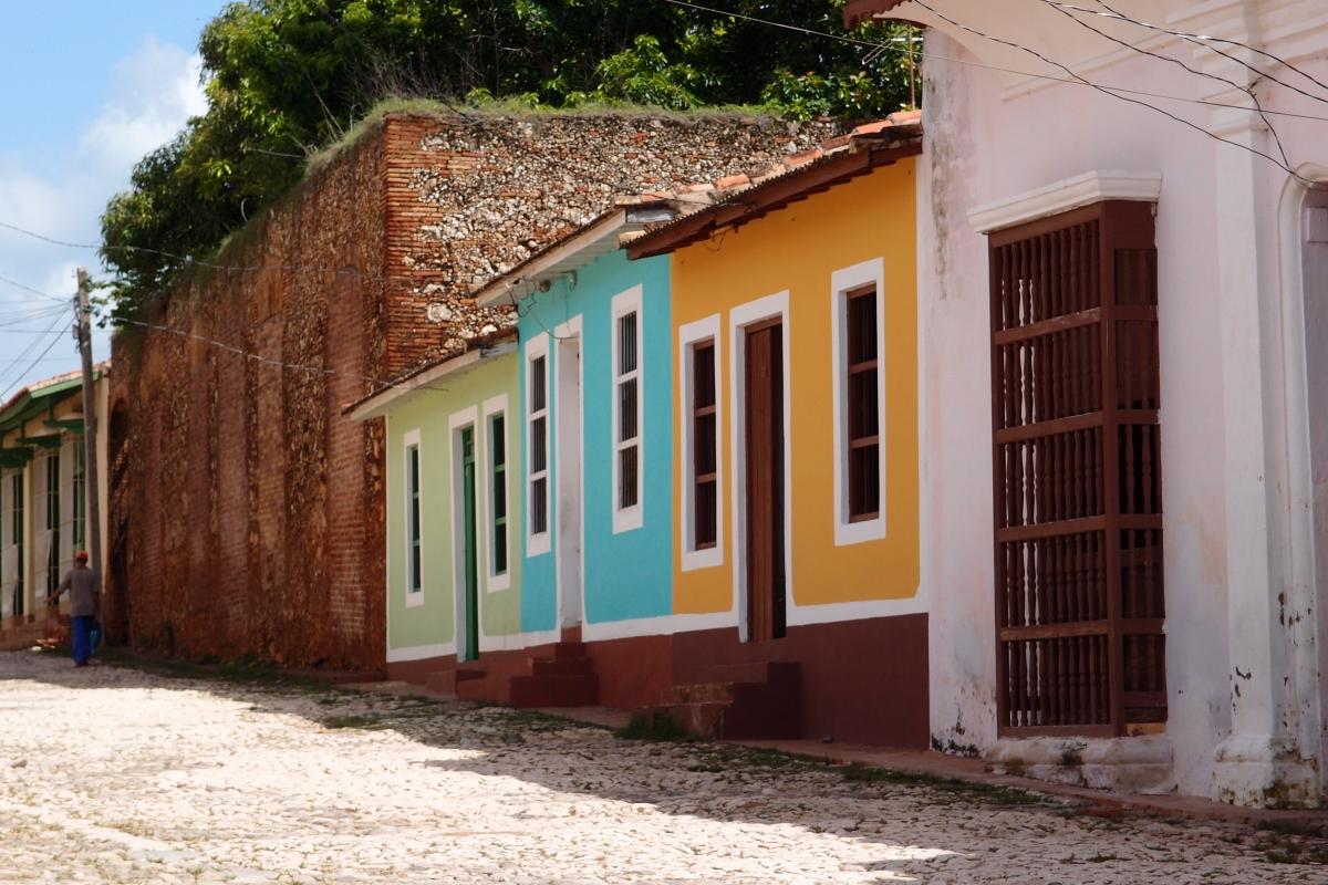 Multi-coloured homes in Trinidad