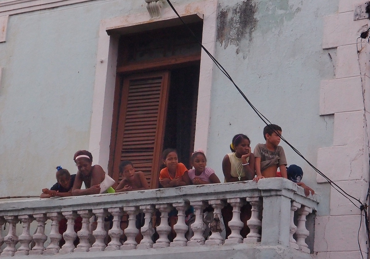 Watching the Festival of fire parade