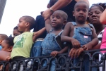 Kids watching the Festival of fire parade