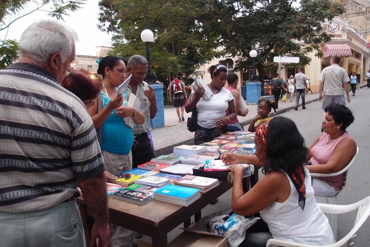 Street book selling
