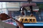 Inside a Santiago de Cuba Taxi