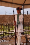In costume guard at Forteleza de San Carlos de la Cabana