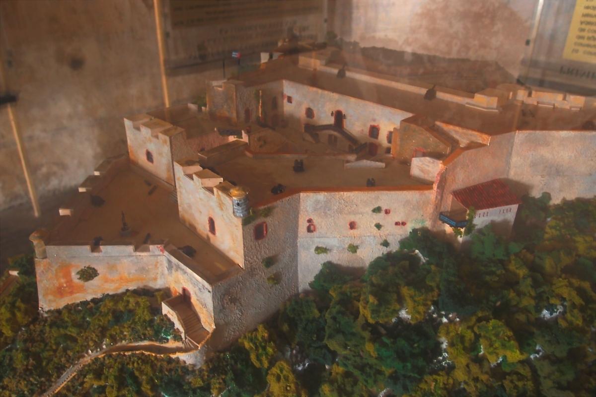 Model of Castillo de San Pedro de la Roca del Morro