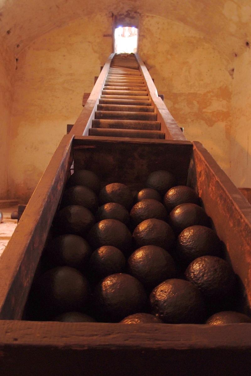 Canon box in Castillo de San Pedro de la Roca del Morro