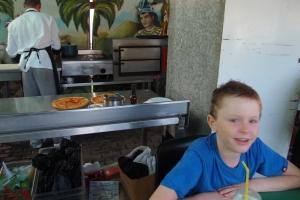 Dinner in kitchen